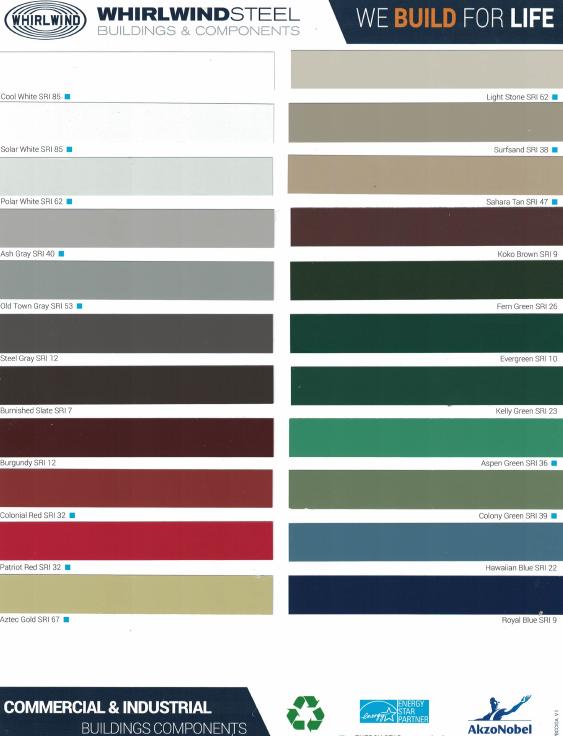 Metal Building Color Chart
